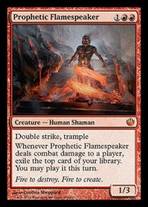Flamespeaker apparently sees into the future, but just not very far